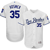 Majestic Men's Authentic Kansas City Royals Eric Hosmer #35 Alternate Los Reales White Flex Base On-Field Jersey