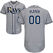 Majestic Men's Full Roster Authentic Tampa Bay Rays Flex Base Road Grey On-Field Jersey