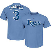 Majestic Men's Tampa Bay Rays Evan Longoria #3 Light Blue T-Shirt