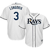Majestic Men's Replica Tampa Bay Rays Evan Longoria #3 Cool Base Home White Jersey