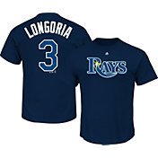 Majestic Men's Tampa Bay Rays Evan Longoria #3 Navy T-Shirt