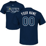 Majestic Men's Custom Tampa Bay Rays Navy T-Shirt