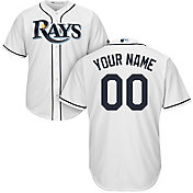 Majestic Men's Custom Cool Base Replica Tampa Bay Rays Home White Jersey