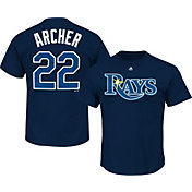 Majestic Men's Tampa Bay Rays Chris Archer #22 Navy T-Shirt