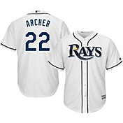 Majestic Men's Replica Tampa Bay Rays Chris Archer #22 Cool Base Home White Jersey