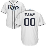 Majestic Men's Full Roster Cool Base Replica Tampa Bay Rays Home White Jersey