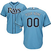 Majestic Men's Custom Cool Base Replica Tampa Bay Rays Alternate Light Blue Jersey
