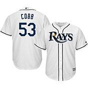 Majestic Men's Replica Tampa Bay Rays Alex Cobb #53 Cool Base Home White Jersey