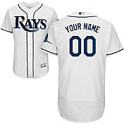 Majestic Men's Custom Authentic Tampa Bay Rays Flex Base Home White On-Field Jersey