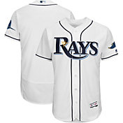 Majestic Men's Authentic Tampa Bay Rays Home White Flex Base On-Field Jersey