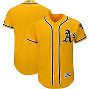 Majestic Men's Authentic Oakland Athletics Alternate Gold Flex Base On-Field Jersey