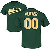 Majestic Men's Full Roster Oakland Athletics Green T-Shirt