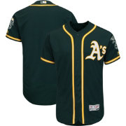 Majestic Men's Authentic Oakland Athletics Alternate Green Flex Base On-Field Jersey