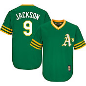 Majestic Men's Replica Oakland Athletics Reggie Jackson Cool Base Green Cooperstown Jersey