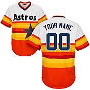 Majestic Men's Custom Cool Base Cooperstown Replica Houston Astros 1986 Rainbow Jersey