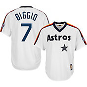 Majestic Men's Replica Houston Astros Craig Biggio Cool Base White Cooperstown Jersey w/ 2015 Hall-of-Fame Patch