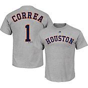 Majestic Men's Houston Astros Carlos Correa #1 Grey T-Shirt