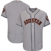 Majestic Men's Authentic Houston Astros Road Grey Flex Base On-Field Jersey