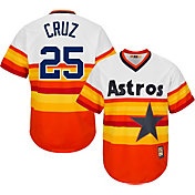 Majestic Men's Replica Houston Astros Jose Cruz Cool Base Rainbow Cooperstown Jersey