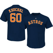 Majestic Men's Houston Astros Dallas Keuchel #60 Navy T-Shirt