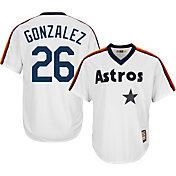 Majestic Men's Replica Houston Astros Luis Gonzalez Cool Base White Cooperstown Jersey