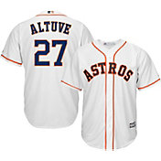 Majestic Men's Replica Houston Astros Jose Altuve #27 Cool Base Home White Jersey