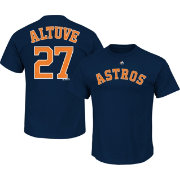 Majestic Men's Houston Astros Jose Altuve #27 Navy T-Shirt