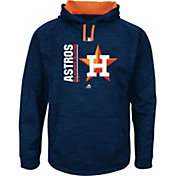Majestic Men's Houston Astros Therma Base On-Field Navy Authentic Collection Pullover Hoodie