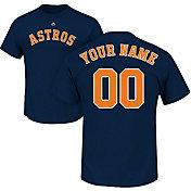 Majestic Men's Custom Houston Astros Navy T-Shirt