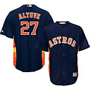 Majestic Men's Replica Houston Astros Jose Altuve #27 Cool Base Alternate Navy Jersey