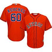Majestic Men's Replica Houston Astros Dallas Keuchel #60 Cool Base Alternate Orange Jersey