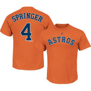 Majestic Men's Houston Astros George Springer #4 Orange T-Shirt