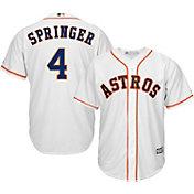 Majestic Men's Replica Houston Astros George Springer #4 Cool Base Home White Jersey