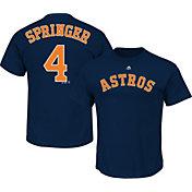 Majestic Men's Houston Astros George Springer #4 Navy T-Shirt