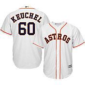 Majestic Men's Replica Houston Astros Dallas Keuchel #60 Cool Base Home White Jersey