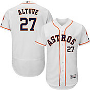 Majestic Men's Authentic Houston Astros Jose Altuve #27 Home White Flex Base On-Field Jersey