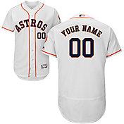 Majestic Men's Custom Authentic Houston Astros Flex Base Home White On-Field Jersey
