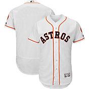Majestic Men's Authentic Houston Astros Home White Flex Base On-Field Jersey