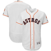 Majestic Men's Authentic Houston Astros Home White Flex Base On-Field Jersey