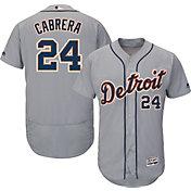Majestic Men's Authentic Detroit Tigers Miguel Cabrera #24 Road Grey Flex Base On-Field Jersey