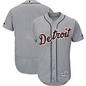 Majestic Men's Authentic Detroit Tigers Road Grey Flex Base On-Field Jersey