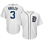Majestic Men's Replica Detroit Tigers Ian Kinsler #3 Cool Base Home White Jersey