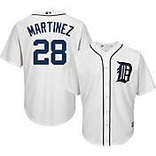 Majestic Men's Replica Detroit Tigers J.D. Martinez #28 Cool Base Home White Jersey