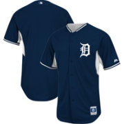 Majestic Men's Authentic Detroit Tigers Home Navy Cool Base Batting Practice Jersey