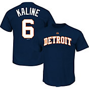 Majestic Triple Peak Men's Detroit Tigers Al Kaline Navy T-Shirt
