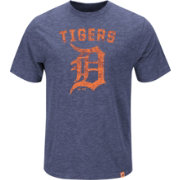 Majestic Men's Detroit Tigers Logo Heathered Navy T-Shirt