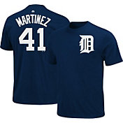 Majestic Triple Peak Men's Detroit Tigers Victor Martinez Navy T-Shirt