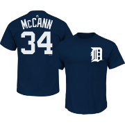 Majestic Men's Detroit Tigers James McCann #34 Navy T-Shirt