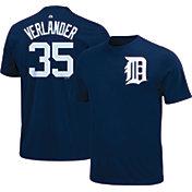 Majestic Triple Peak Men's Detroit Tigers Justin Verlander Navy T-Shirt