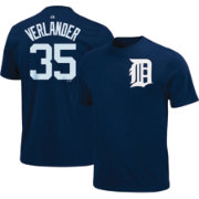 Majestic Triple Peak Men's Detroit Tigers Justin Verlander Navy T-Shirt